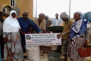 La mairie de Cuarte de Huerva aide les femmes de M'Botto